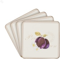 Price & Kensington Country Fruits Hard board Coaster Set Pack of 4