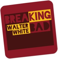 PosterGuy Walter White Breaking Bad Typography Illustration Wood Coaster (Pack Of 1)