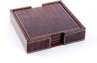 Treasure Hunt Classy Leather Coaster Set (Pack Of 5) - COAE5QUQ29FRBFDJ