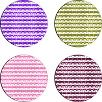 Sajawathomes Colorfull Pattern Set Of Four Design 98 Wood Coaster Set (Pack Of 4)