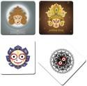 Bluegape Devi Maa Durga Goddess MDF Coaster Set - Pack Of 4