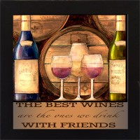 E-Studio The Best Wines Wood Coaster (Pack Of 1)