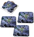 MeSleep Green Lantern Wooden Coaster Set - Pack Of 4 - COADVGJHKFYQYGVF