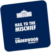 PosterGuy White House Frank Underwood House Of Cards TV Series Minimal Wood Coaster Blue, White, Pack Of 1