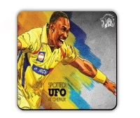 Get Fatang UFO Spotted Wood Coaster Multicolor, Pack Of 1