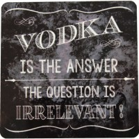 Nourish Vodka Is The Answer - The Question Is Irrelevant Wood Coaster Set (Pack Of 2)