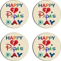 Tiedribbons Round Wood Coaster Set Multicolor, Pack Of 4 - COAE7S687DUGZHT7