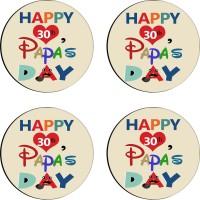 Tiedribbons Round Wood Coaster Set Multicolor, Pack Of 4 - COAE7S68EEVX7HWQ