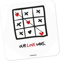 PosterGuy Our Love Wins Valentine's Day Love Wood Coaster (Pack Of 1)