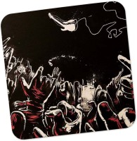 PosterGuy Square Wood Coaster Red, Black, Pack Of 1