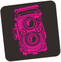 Posterguy Square Wood Coaster Pink, Grey, Pack Of 1