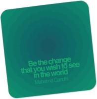 PosterGuy Be The Change Mahatma Gandhi Motivational Illustration Wood Coaster (Pack Of 1)