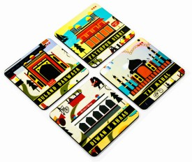 Mad(e) In India Historical City Of India - Agra MDF Coaster Set - Pack Of 4