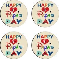 Tiedribbons Round Wood Coaster Set Multicolor, Pack Of 4 - COAE7S68VKTPKMY3