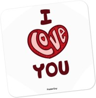PosterGuy I Love You Red Valentine's Day Love Wood Coaster (Pack Of 1)