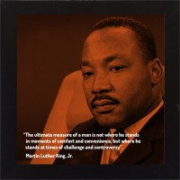 E-Studio Martin Luther King Jr. Wood Coaster (Pack Of 1)