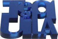 Shmeegal Kapoor Designs Square Acrylic Coaster Set Dark Blue, Pack Of 4