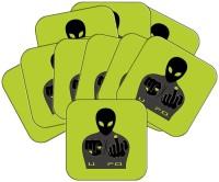 MeSleep Square Wood Coaster Set Green, Pack Of 10 - COAEAYDYD7GCKU3E
