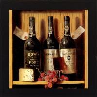 E-Studio Wine Wood Coaster (Pack Of 1)