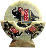 Anshul Fashion Triangle Stone Coaster Set Green, Pack Of 6