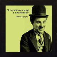 E-Studio Charlie Chaplin Wood Coaster (Pack Of 1)