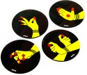 Mad(e) In India Gestures Performed With The Hands MDF Coaster Set - Pack Of 4