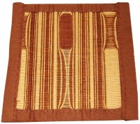 Saffron Craft Weaved Handloom Cotton Bamboo Coaster Set (Pack Of 6) - COAE5DY3RS69QXGT