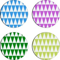 Sajawathomes Colorfull Pattern Of Four Design 49 Wood Coaster Set (Pack Of 4)