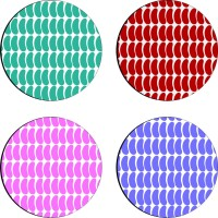 Sajawathomes Colorfull Pattern Of Four Design 44 Wood Coaster Set (Pack Of 4)