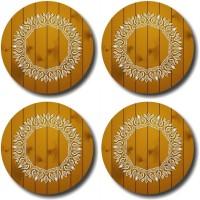 Shaildha Designer Medium Density Fibreboard Coaster Set Multicolor, Pack Of 4 - COAE6HUMFYAUYZBZ