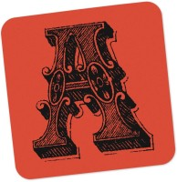 PosterGuy Square Wood Coaster Red, Black, Pack Of 1 - COAE87SNTTQCUZRA