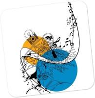 Posterguy Square Wood Coaster Blue, Orange, White, Pack Of 1