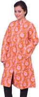 ChhipaPrints Women's Single Breasted Overcoat Coat