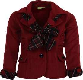 Cutecumber Front Buttoned Girl's Single Breasted Top Coat Coat