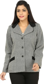 Excent Women's Single Breasted Car Coat