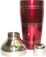 King International 750 Ml Stainless Steel Cocktail Shaker (Red)