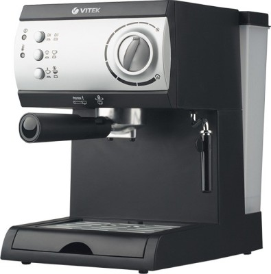 Vitek VT-1511 BK-I 10 cups Coffee Maker (Black, Silver)