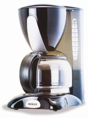 Sogo SS-880 12 cups Coffee Maker (Black)