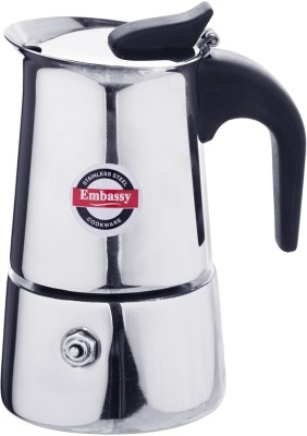 Embassy Percolator 2.0 2 cups Coffee Maker (Steel)