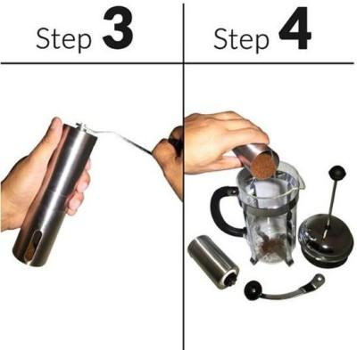 KaapiCheeno SSManHel_01 2 cups Coffee Maker (Steel)