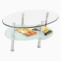 Godrej Interio Glass Coffee Table (Finish Color - Silver)