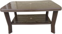 Aggarwal Folding Beds Plastic Coffee Table (Finish Color - Brown)