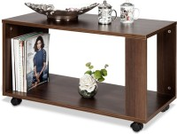 Debono Nutty Coffee Table On Castors Engineered Wood Coffee Table (Finish Color - Brown)
