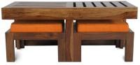 HomeEdge Solid Wood Coffee Table (Finish Color - Teak Finish)