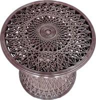 Suryaprabha Round Plastic Coffee Table (Finish Color - Brown)
