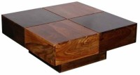 Ethnic Handicrafts Solid Wood Coffee Table (Finish Color - Dual Tone)