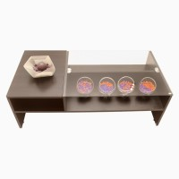 Godrej Interio Glass Coffee Table (Finish Color - Wengue)