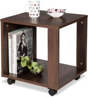 Debono Slim Coffee Table On Castors Engineered Wood Coffee Table (Finish Color - Brown)