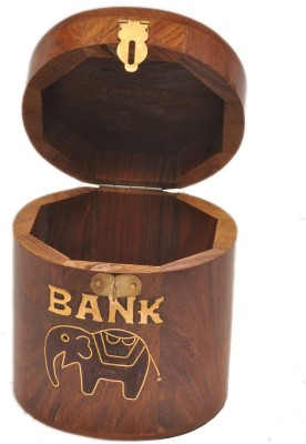 Artist Haat Cylindrical Bank Elephant Money Coin Bank