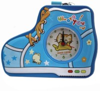 Tootpado Shoe Shaped Metal Piggy Bank with Clock & Alarm Coin Bank Blue